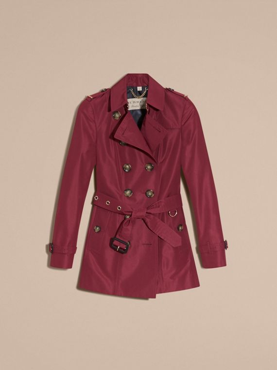 Cramoisi sombre Trench-coat slim imperméable - cell image 3