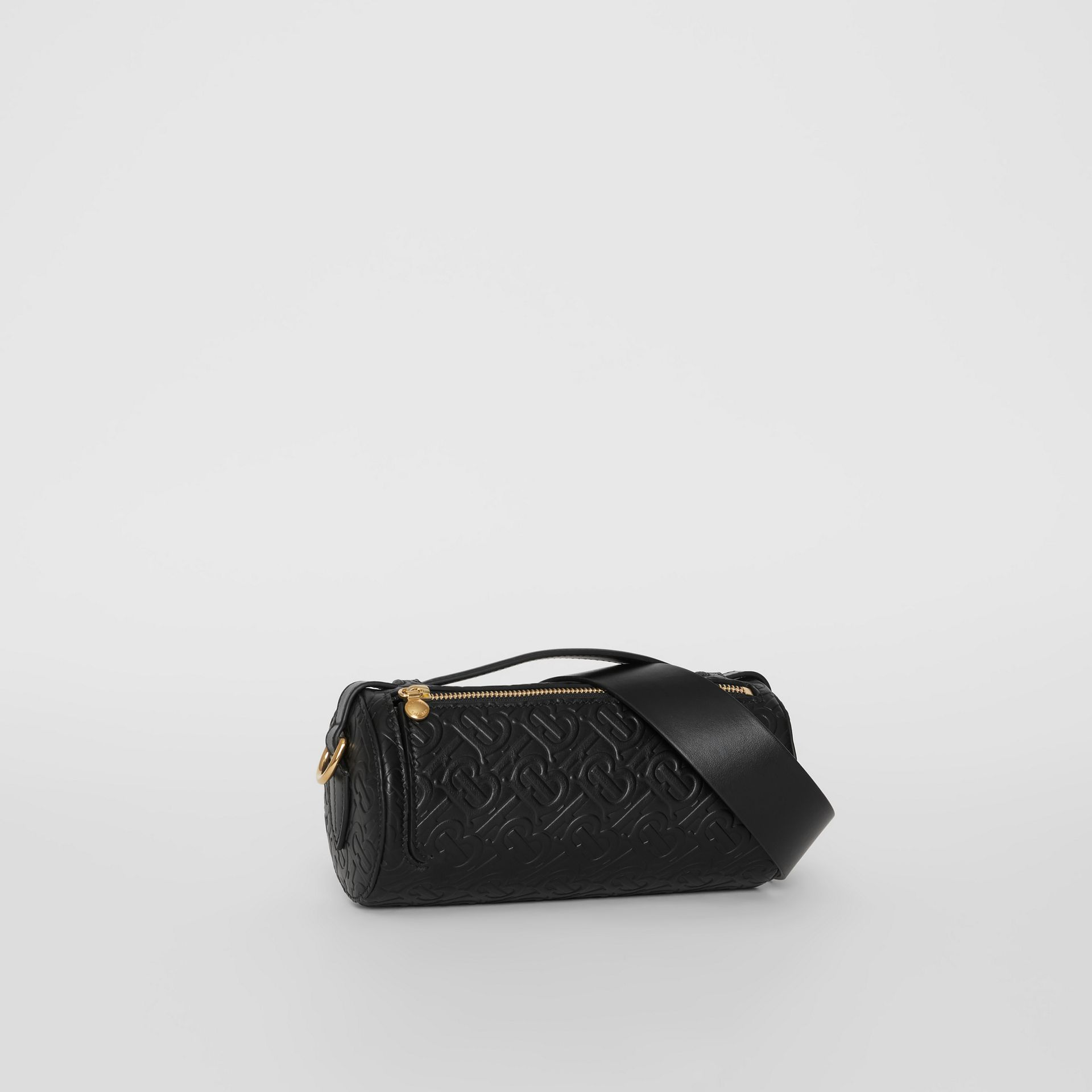 Sac The Barrel en cuir Monogram (Noir) - Femme | Burberry Canada - photo de la galerie 6