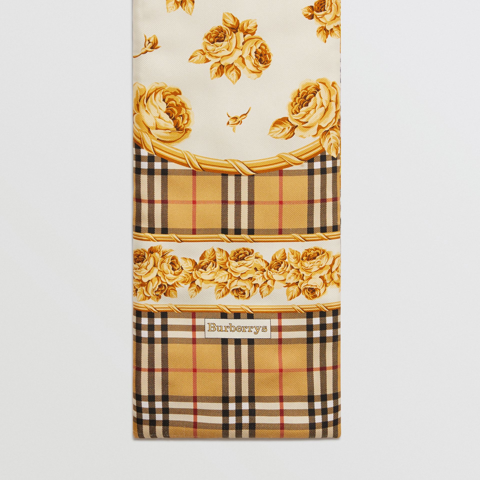 Archive Scarf Print Silk Puffer Scarf in Multicolour | Burberry - gallery image 0