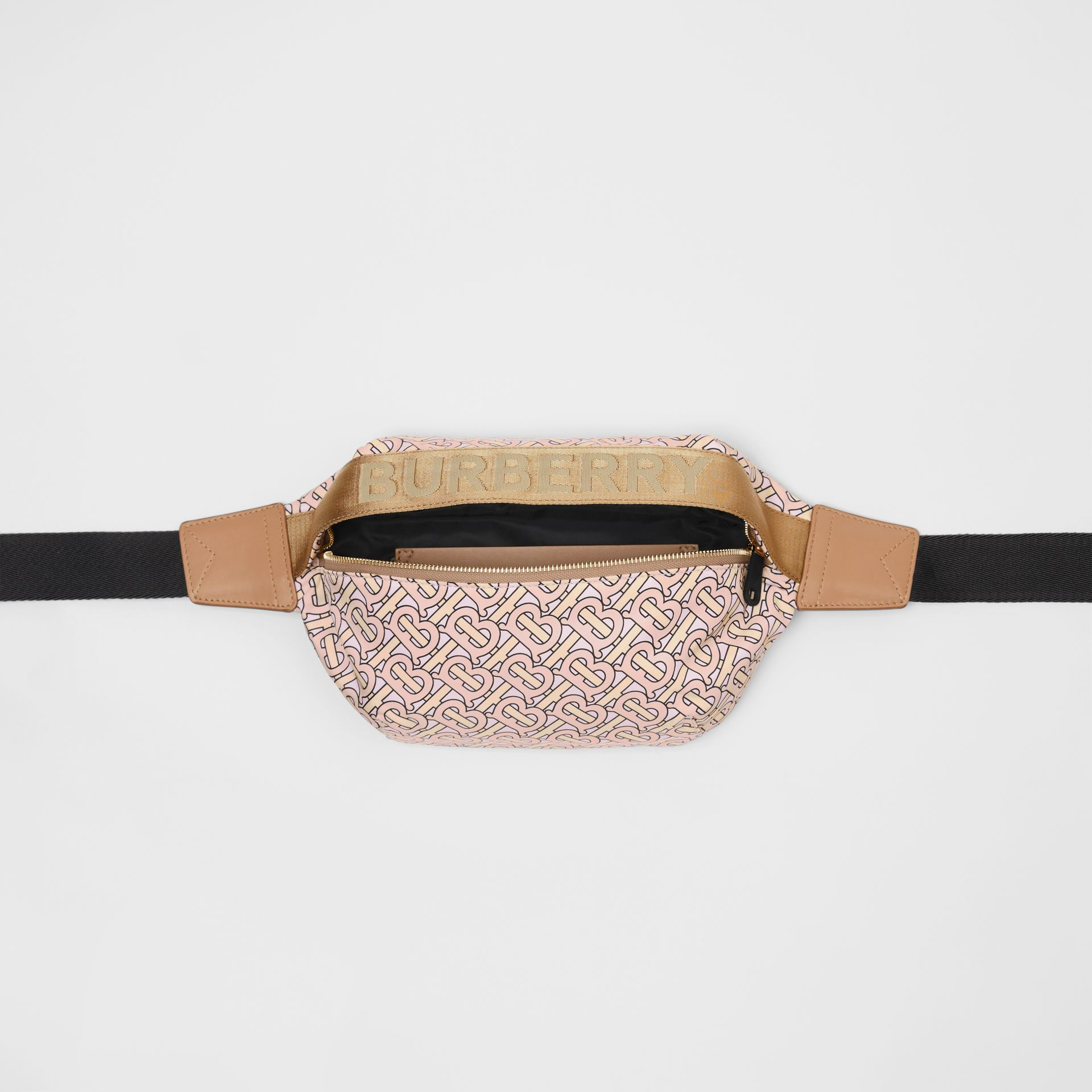 Medium Monogram Print Bum Bag in Blush | Burberry - gallery image 3