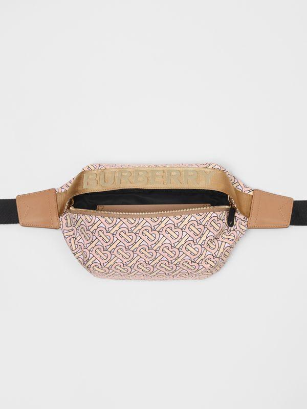 Medium Monogram Print Bum Bag in Blush | Burberry - cell image 3