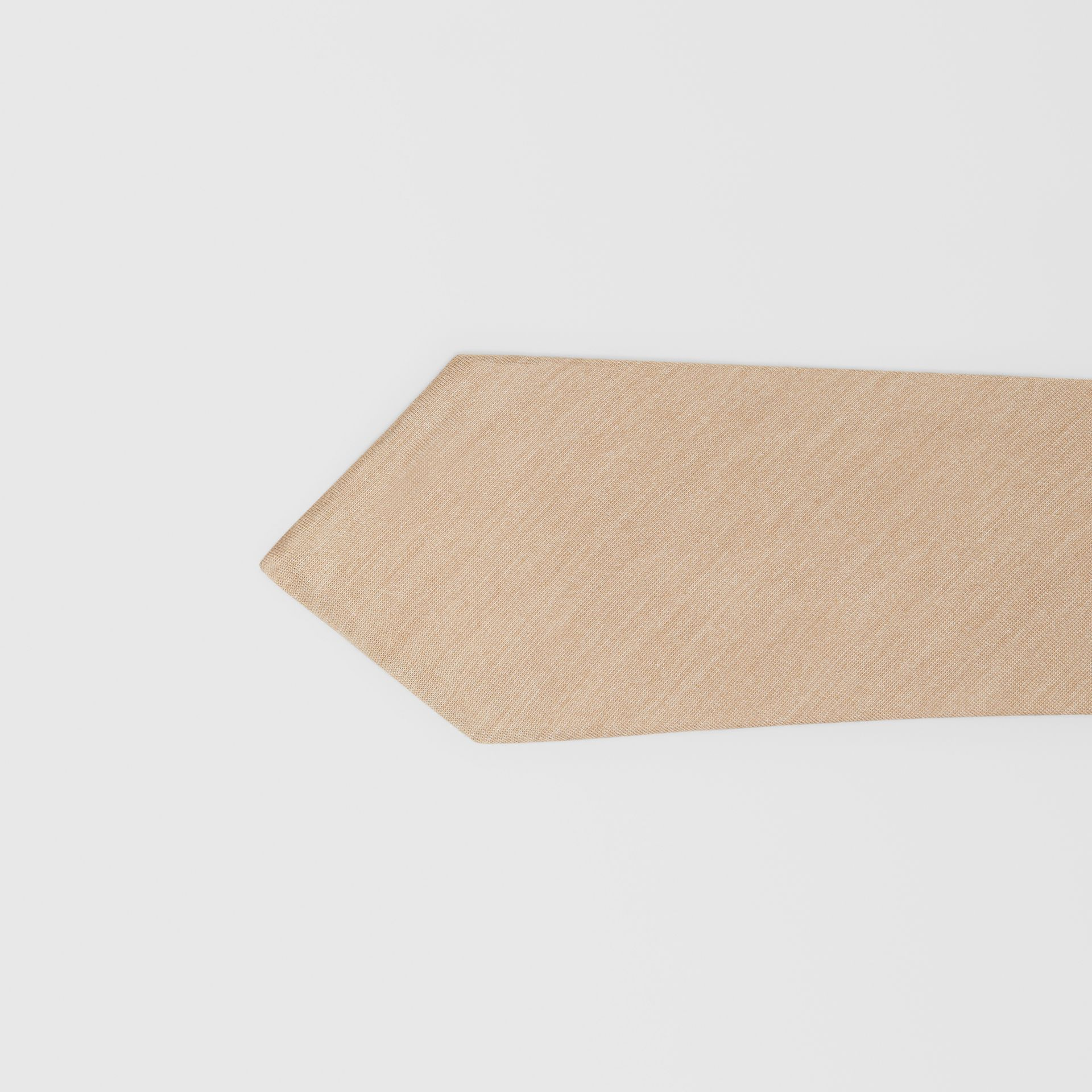 Classic Cut Silk Tie in Soft Fawn | Burberry - gallery image 1