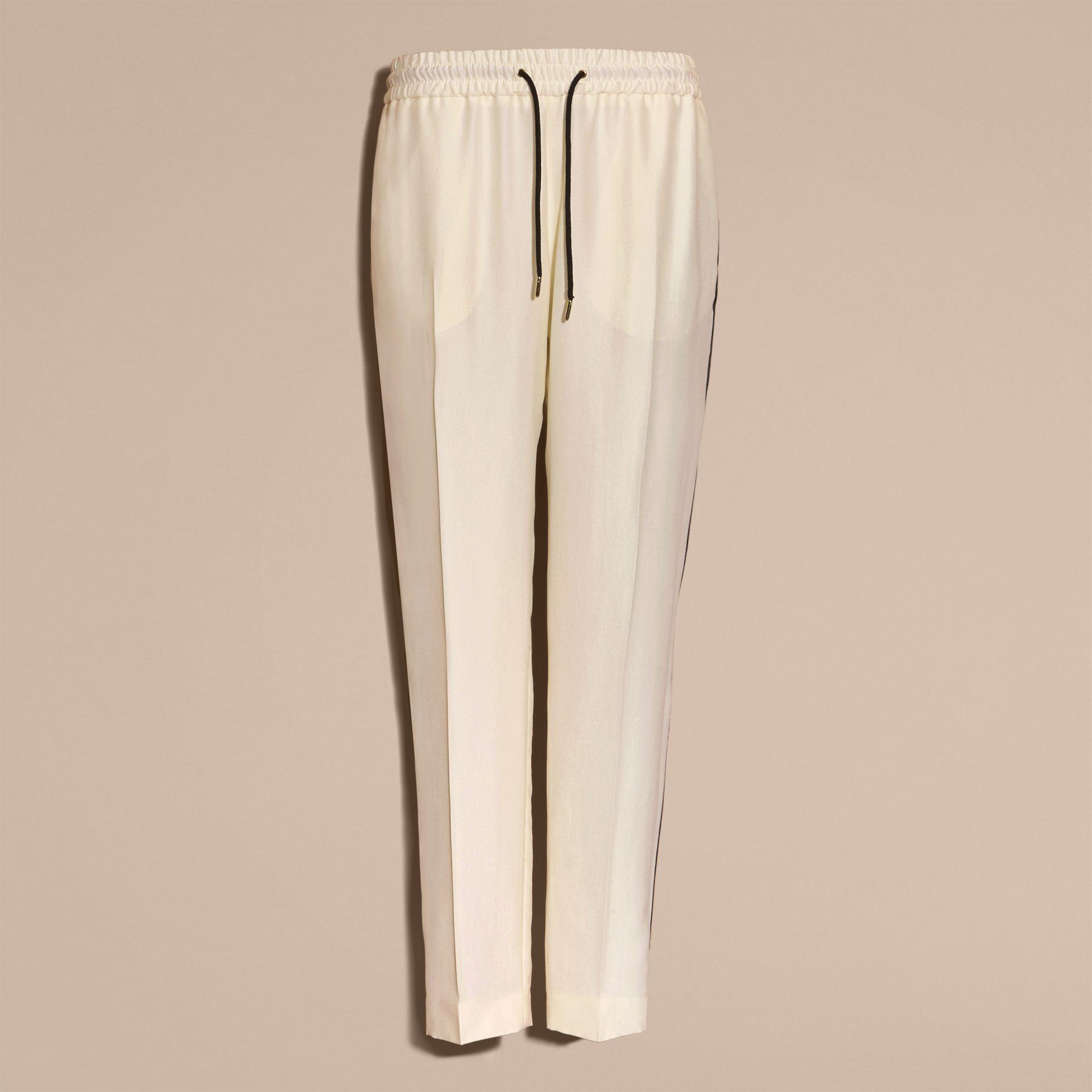 Parchment Tailored Silk Track Pants - gallery image 4