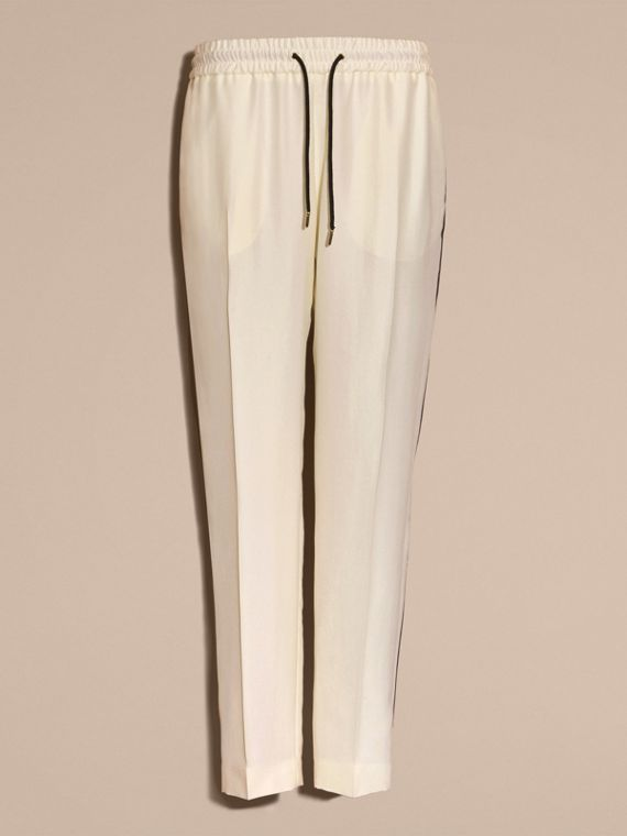 Parchment Tailored Silk Track Pants - cell image 3