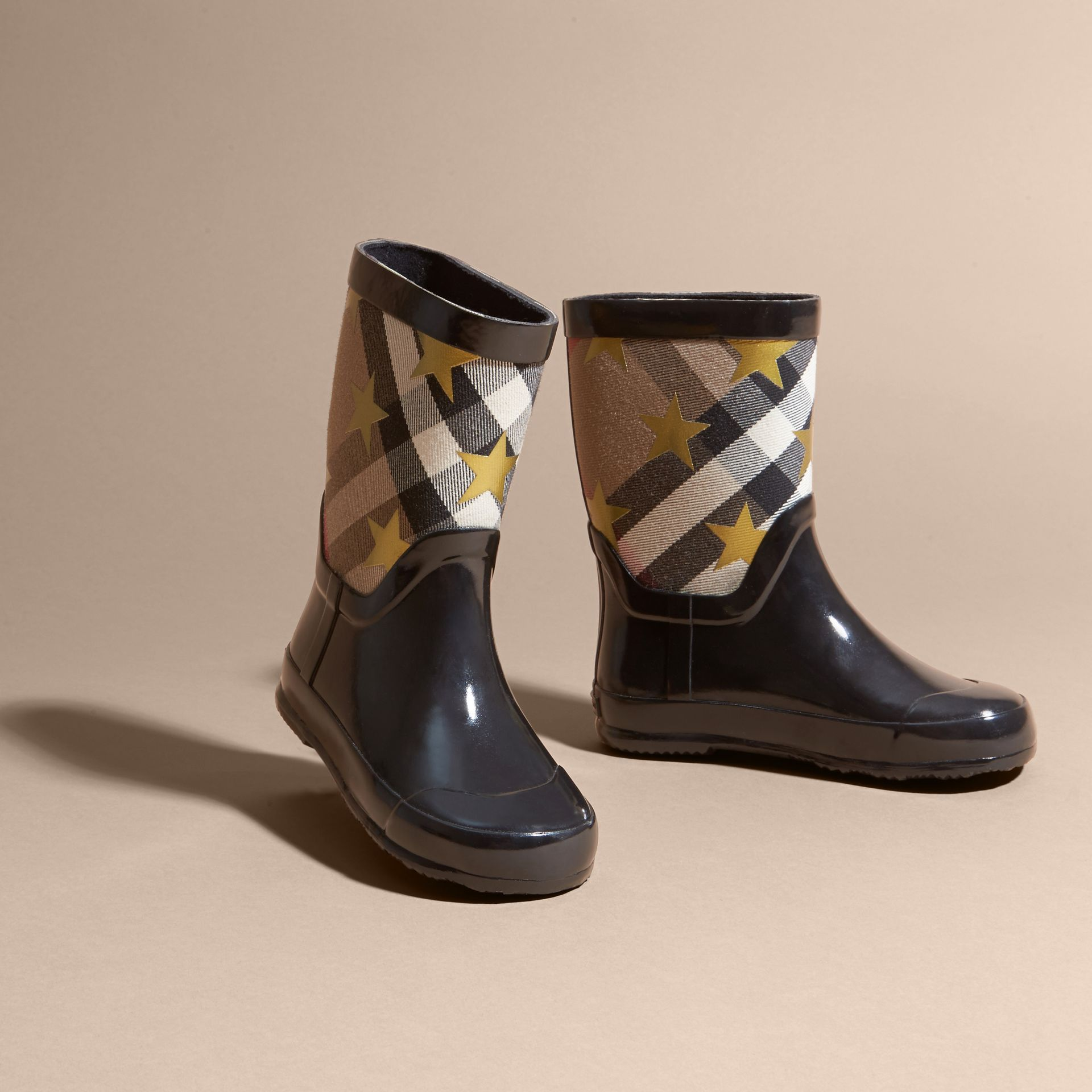Black Star Print House Check Rain Boots - gallery image 3