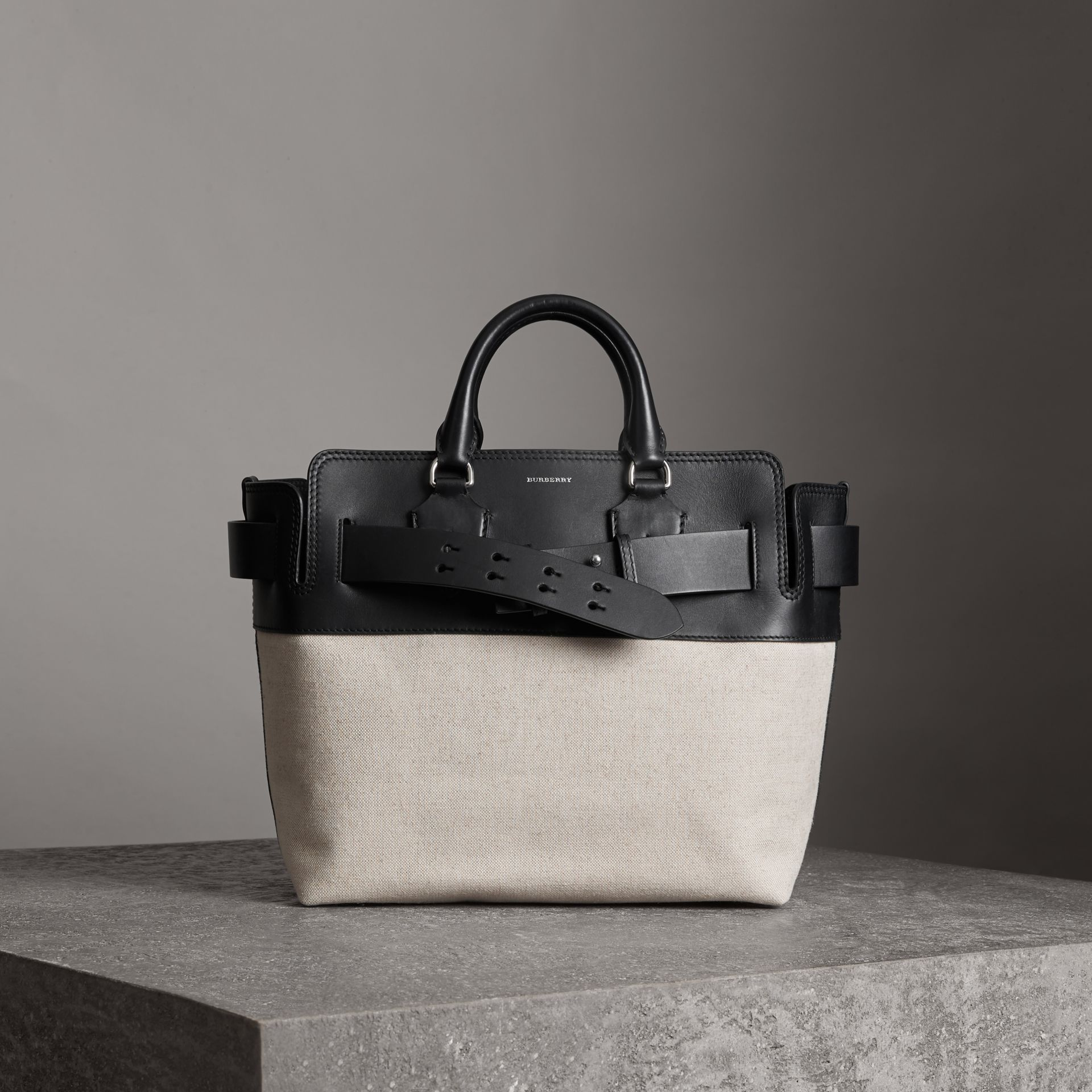 Burberry The Medium Canvas And Leather Belt Bag In Black   ModeSens db8a913ce0