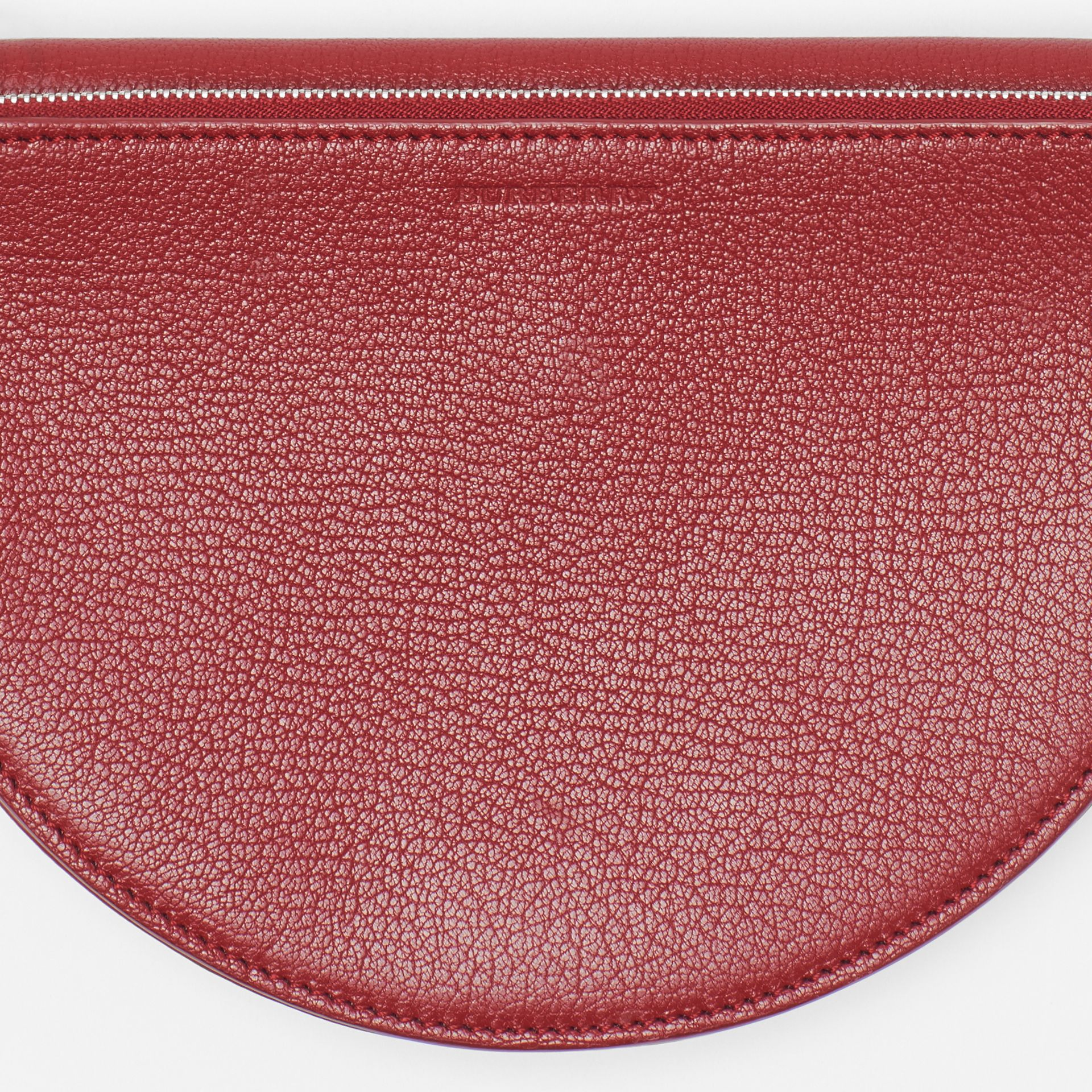 The Small Leather D Bag in Crimson - Women | Burberry - gallery image 1