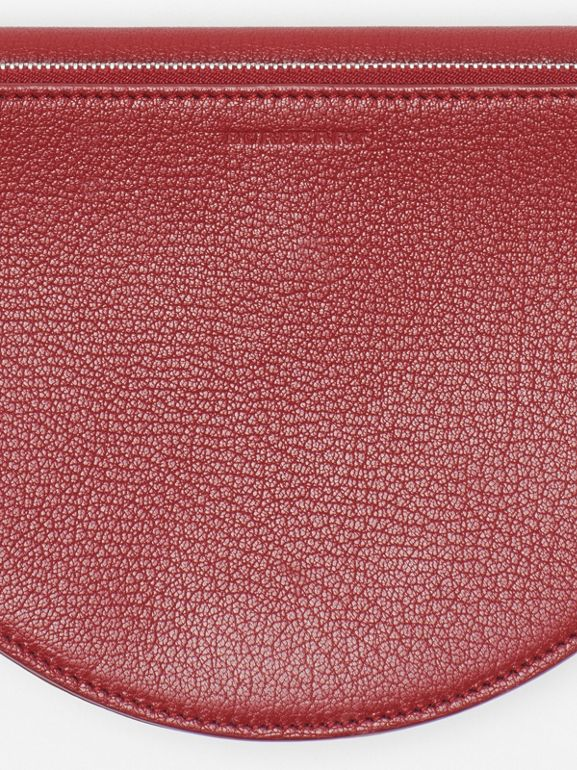 The Small Leather D Bag in Crimson - Women | Burberry - cell image 1