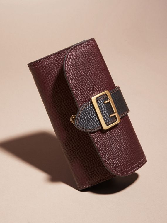 Burgundy/black Textured Leather Continental Wallet - cell image 2