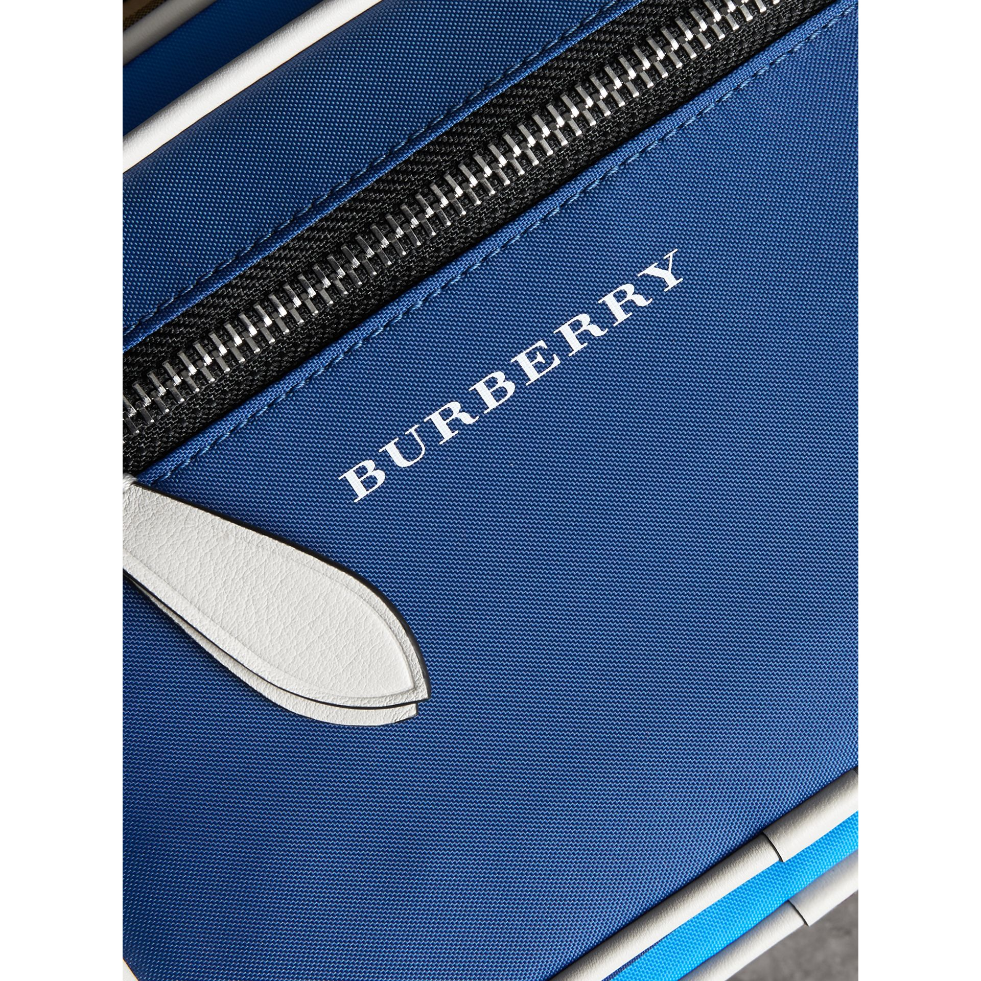 Vintage Check and Nylon Crossbody Bag in Deep Cerulean Blue | Burberry United States - gallery image 1