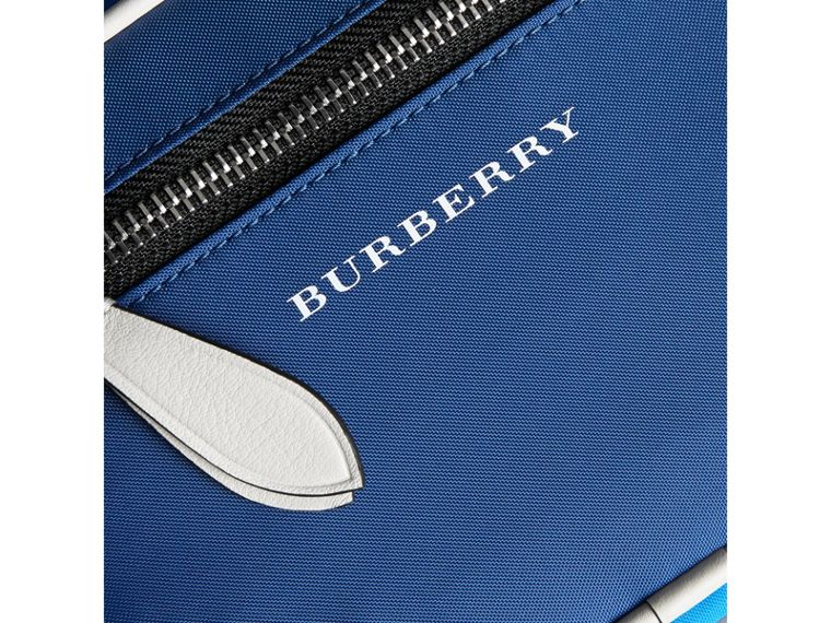 Vintage Check and Nylon Crossbody Bag in Deep Cerulean Blue   Burberry United States - cell image 1