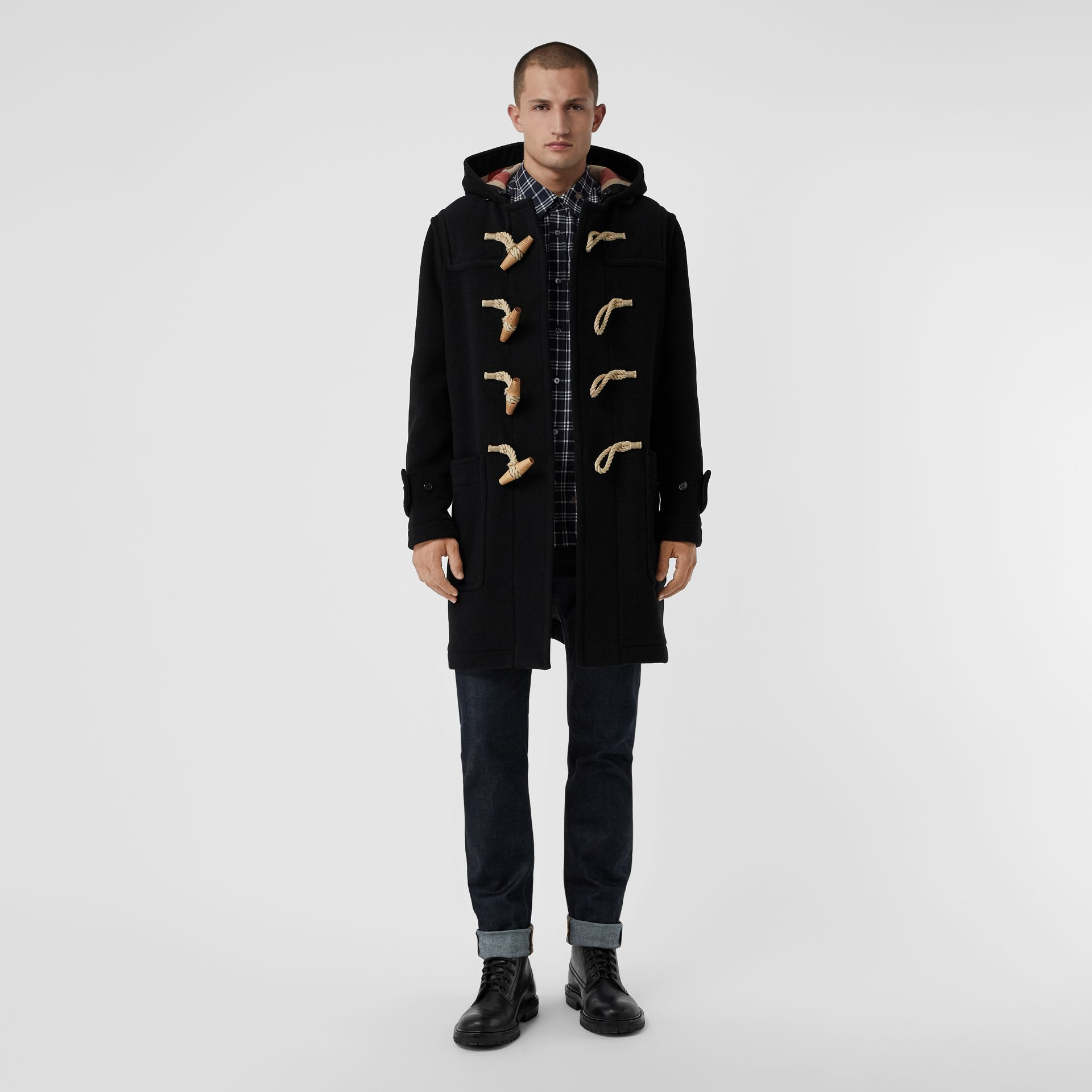 The Greenwich Duffle Coat in Black - Men | Burberry - gallery image 0