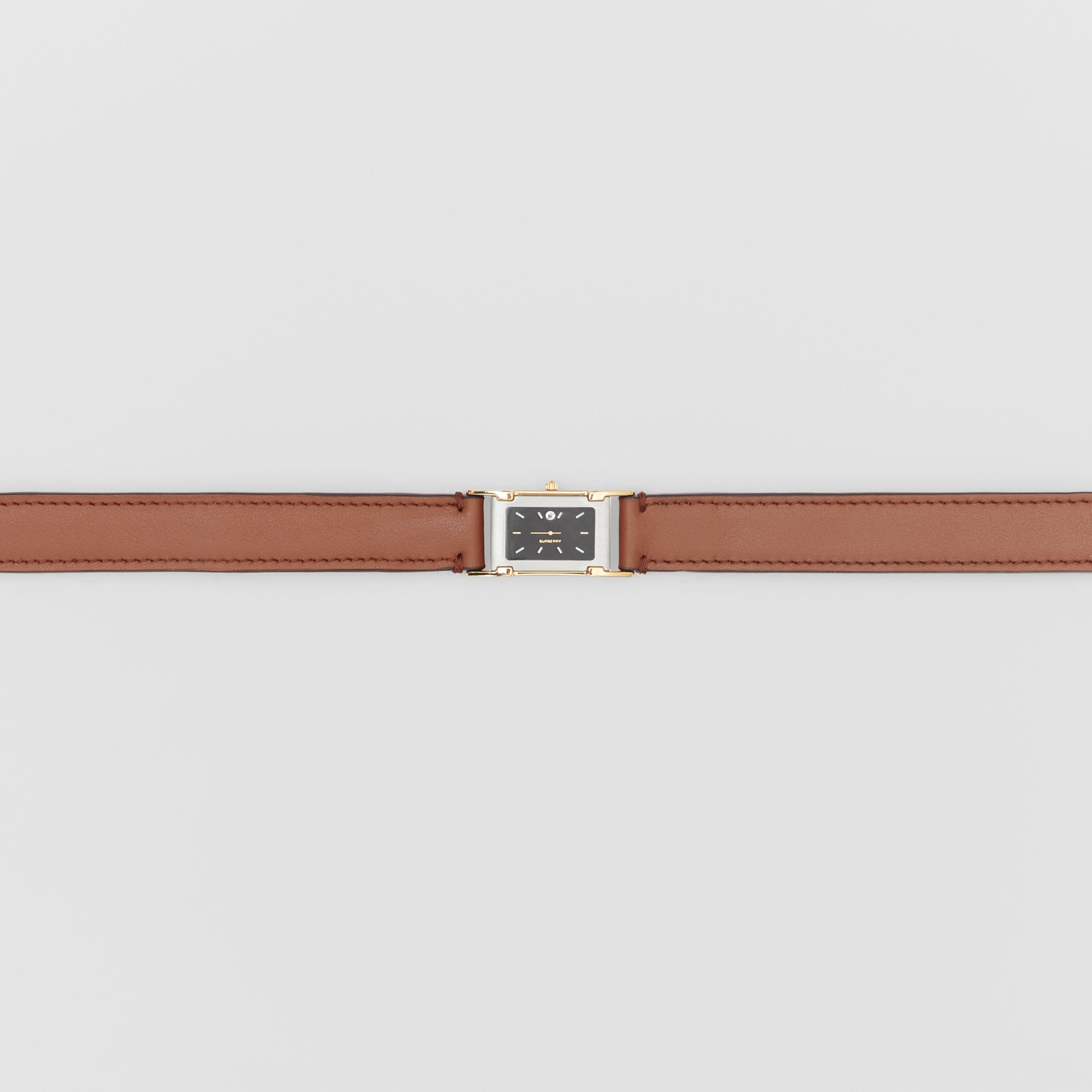 Faux Watch Detail Leather Belt in Tan - Men | Burberry Hong Kong S.A.R - 2