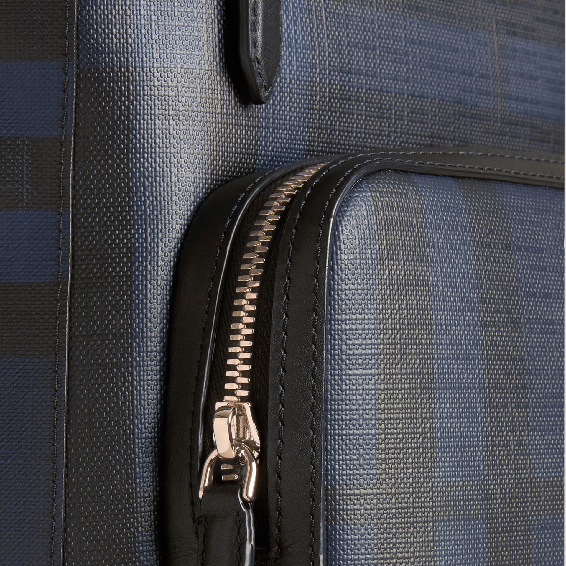 Navy/black London Check Backpack Navy/black - gallery image 6