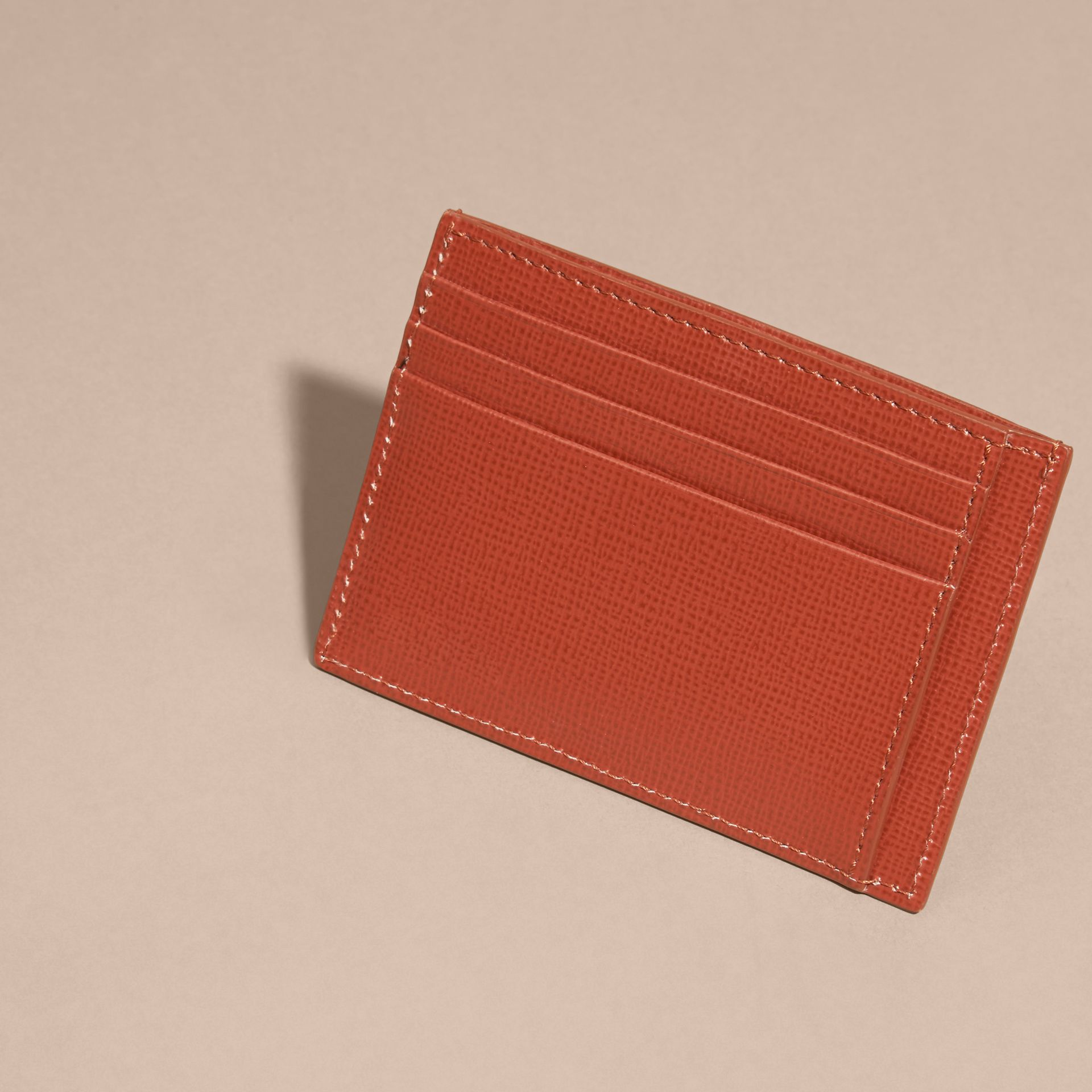 London Leather Card Case in Burnt Sienna - gallery image 2