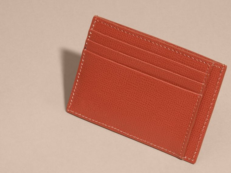 London Leather Card Case in Burnt Sienna - cell image 1