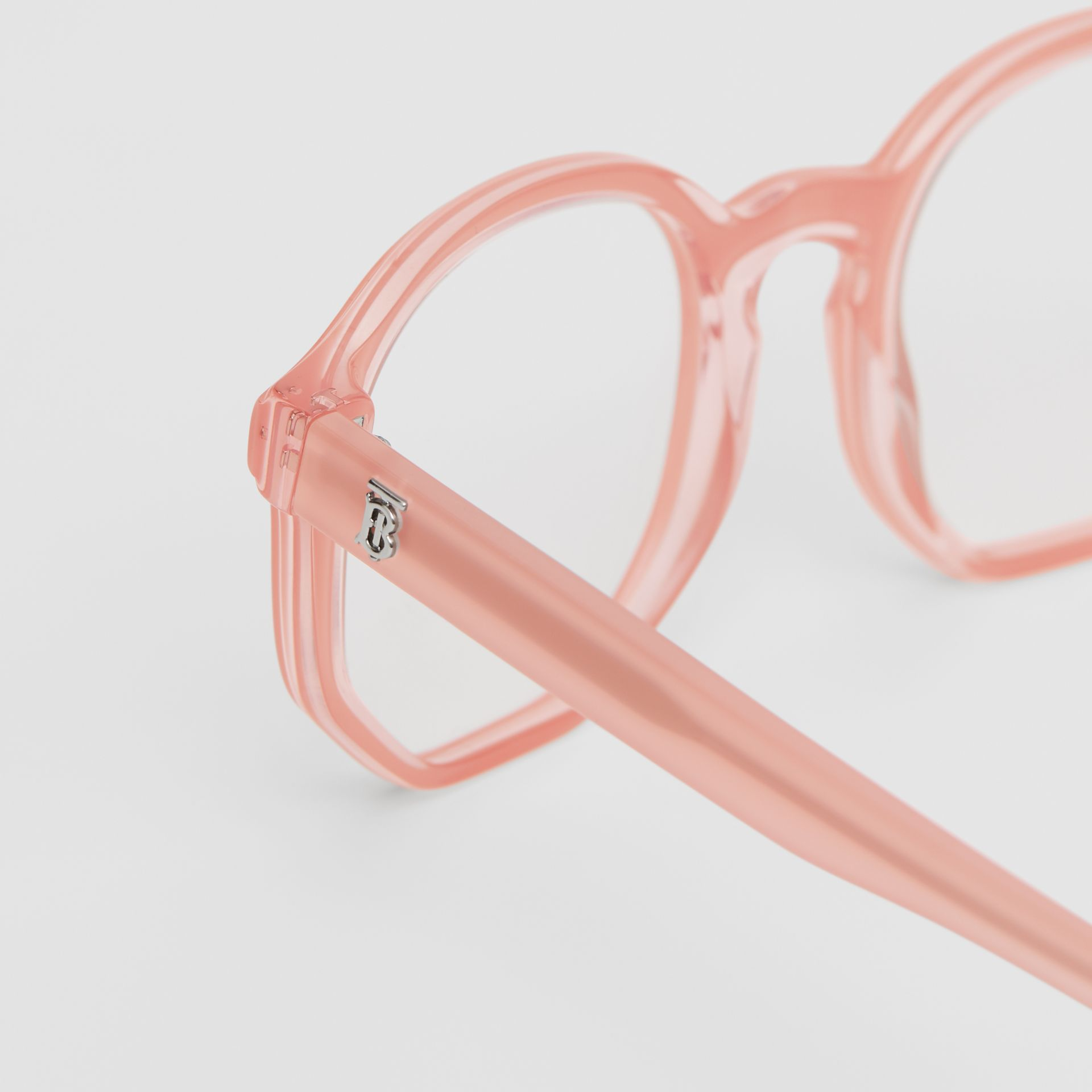 Geometric Optical Frames in Pink - Women | Burberry United Kingdom - gallery image 1