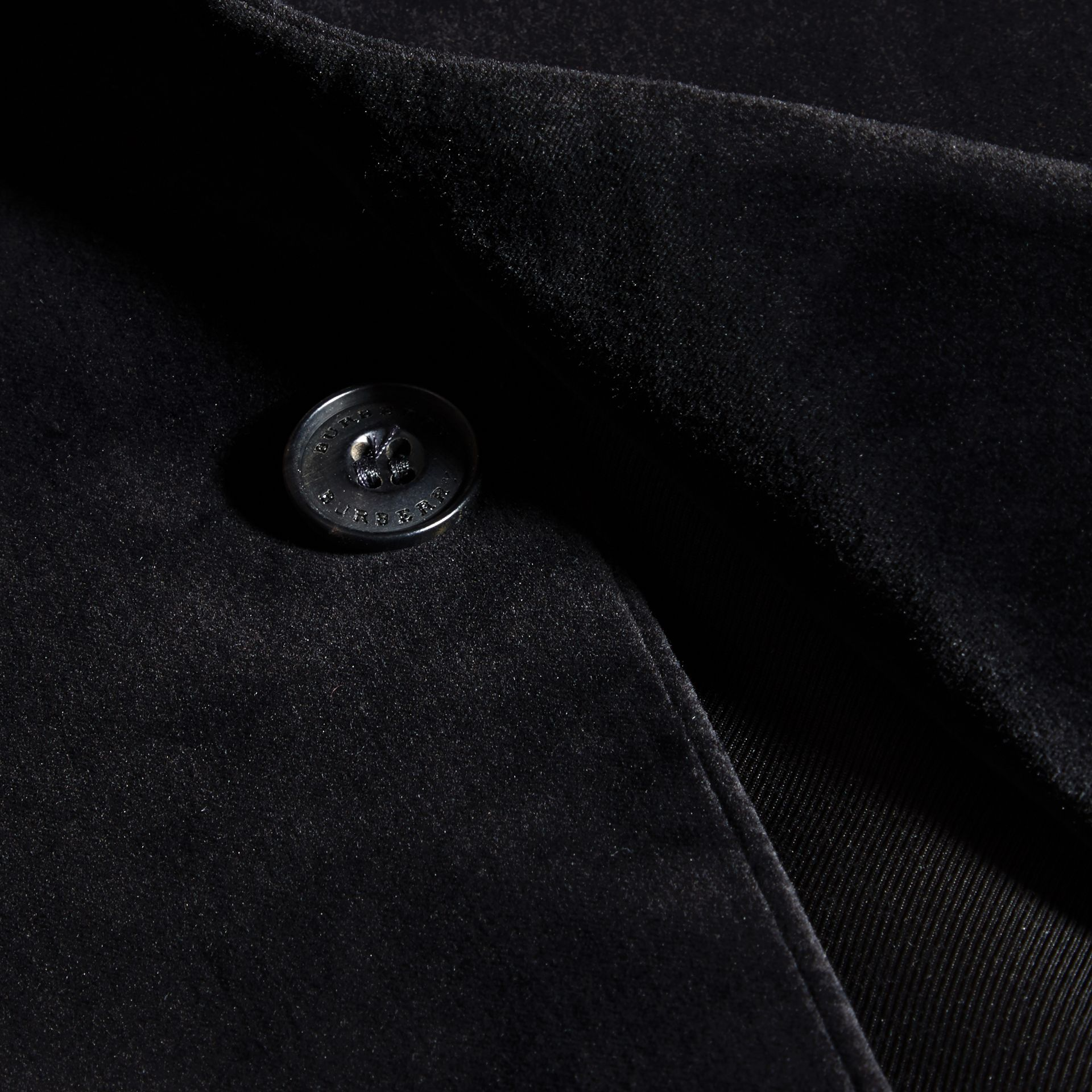 Black Slim Fit Tailored Velvet Jacket - gallery image 2