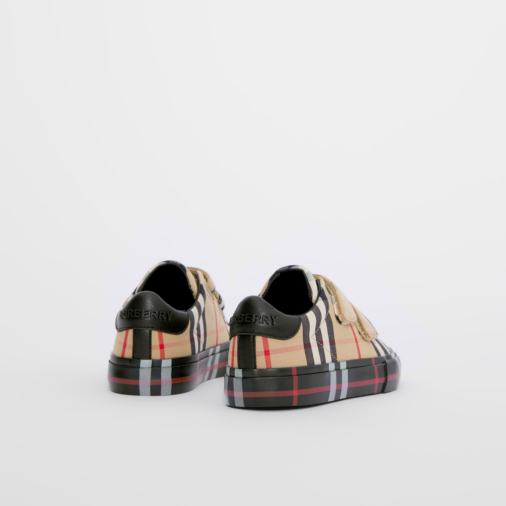 Sneakers en coton check (Beige D'archive/noir) - Enfant | Burberry Canada - photo de la galerie 2