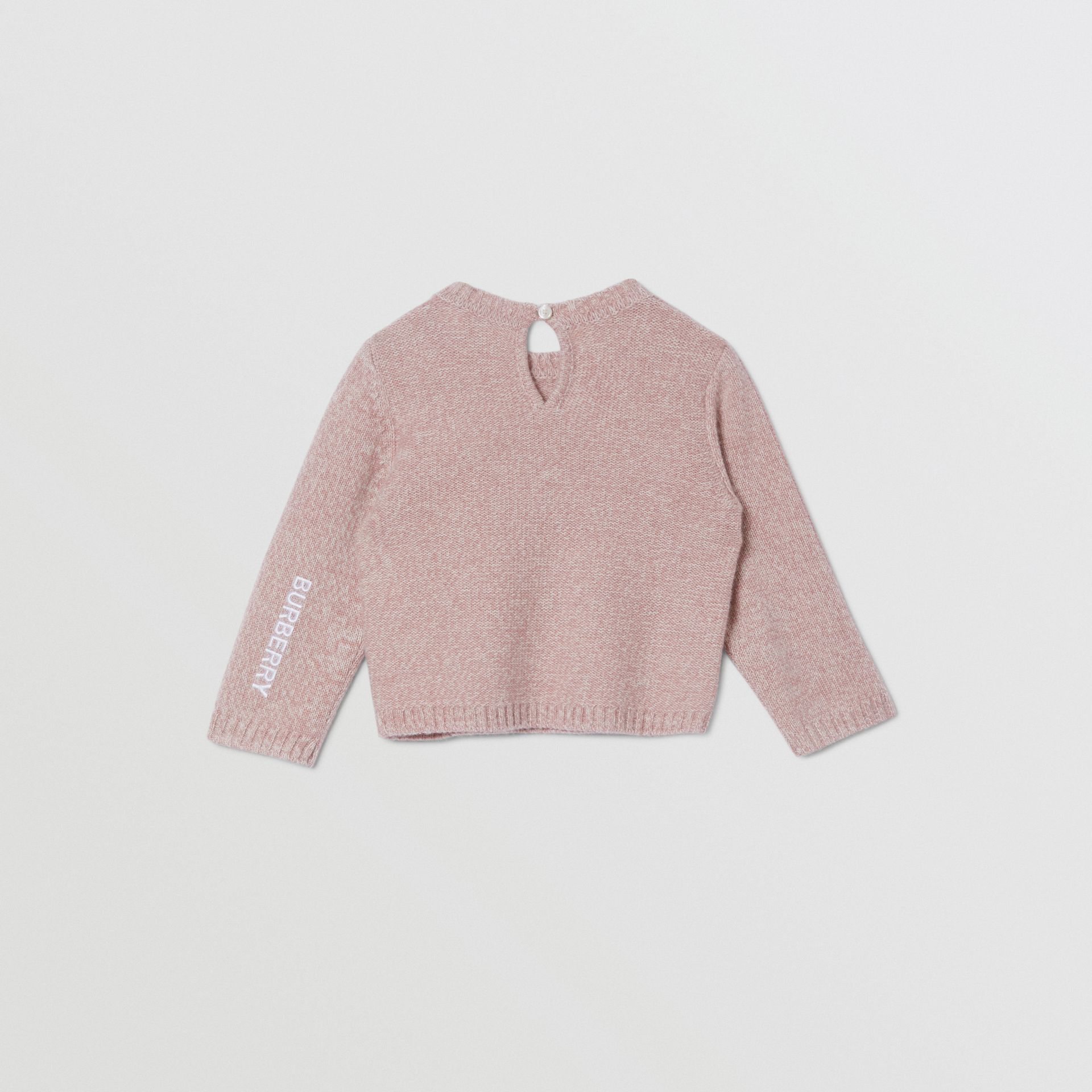 Thomas Bear Detail Wool Cashmere Sweater in Light Pink - Children | Burberry United Kingdom - gallery image 3