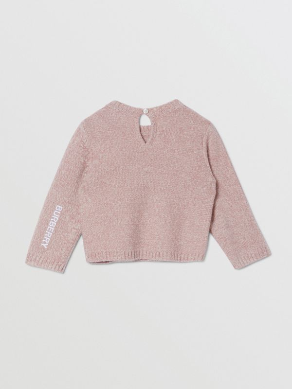 Thomas Bear Detail Wool Cashmere Sweater in Light Pink - Children | Burberry United Kingdom - cell image 3