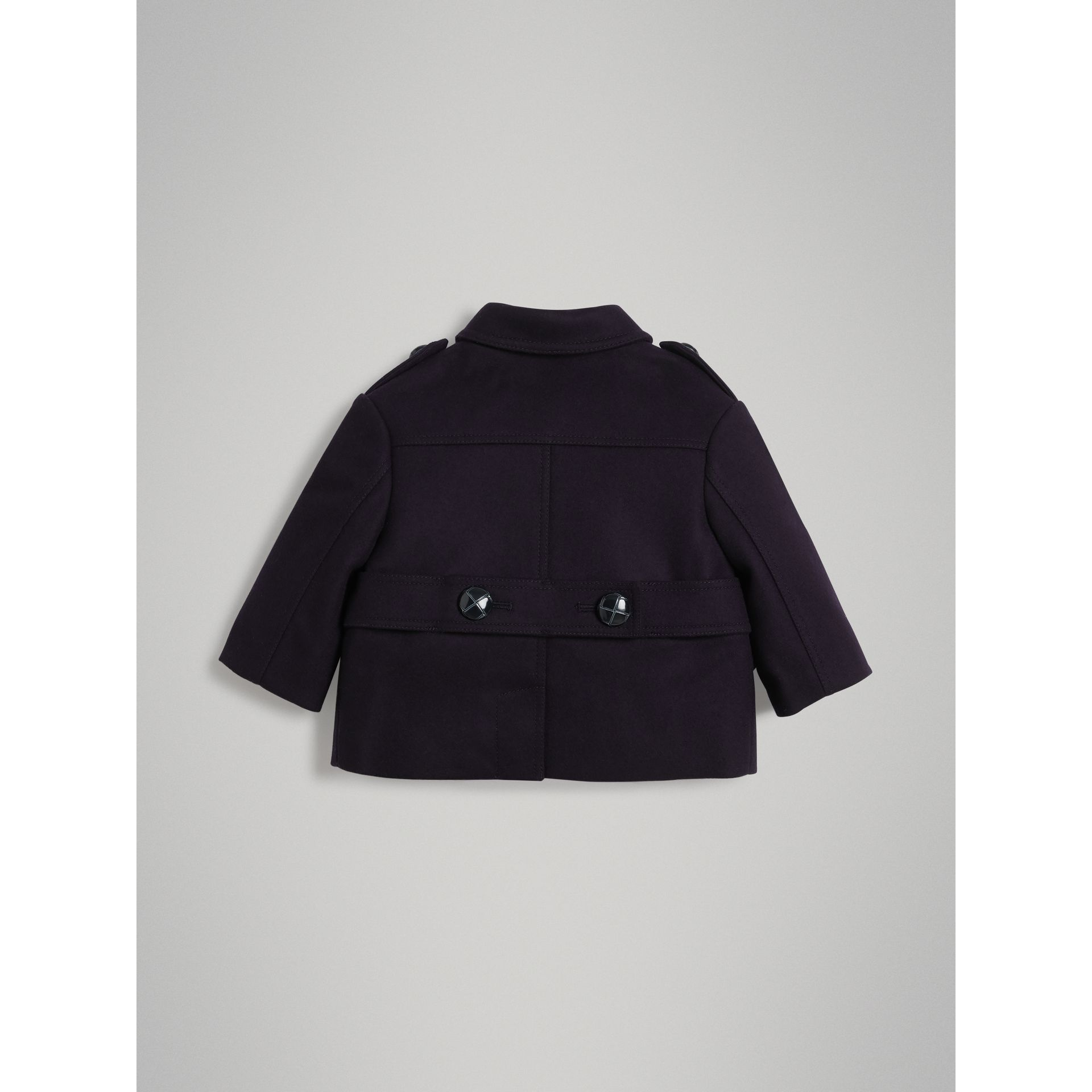 Wool Pea Coat in Navy - Children | Burberry Singapore - gallery image 3