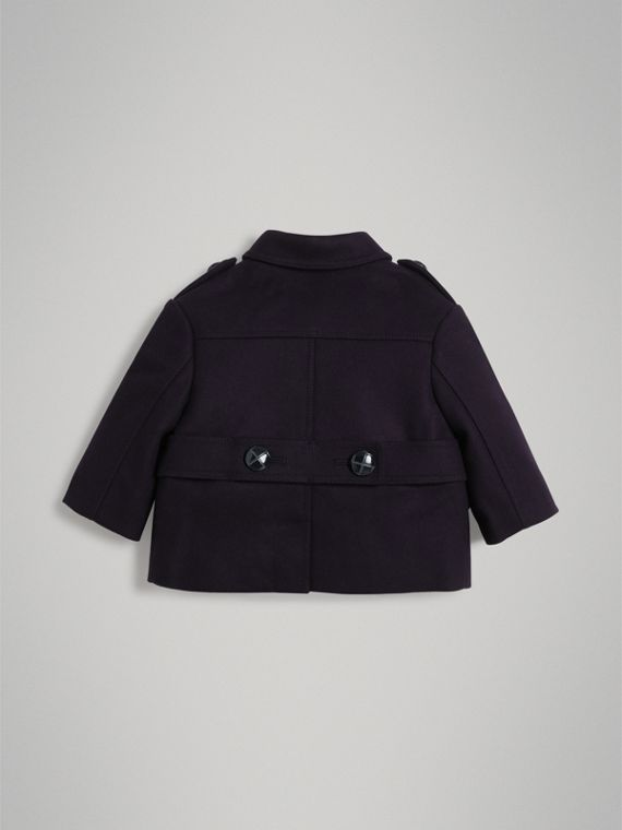 Wool Pea Coat in Navy | Burberry Australia - cell image 3