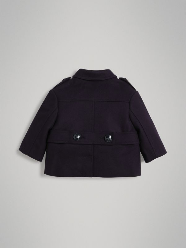 Wool Pea Coat in Navy - Children | Burberry United Kingdom - cell image 3