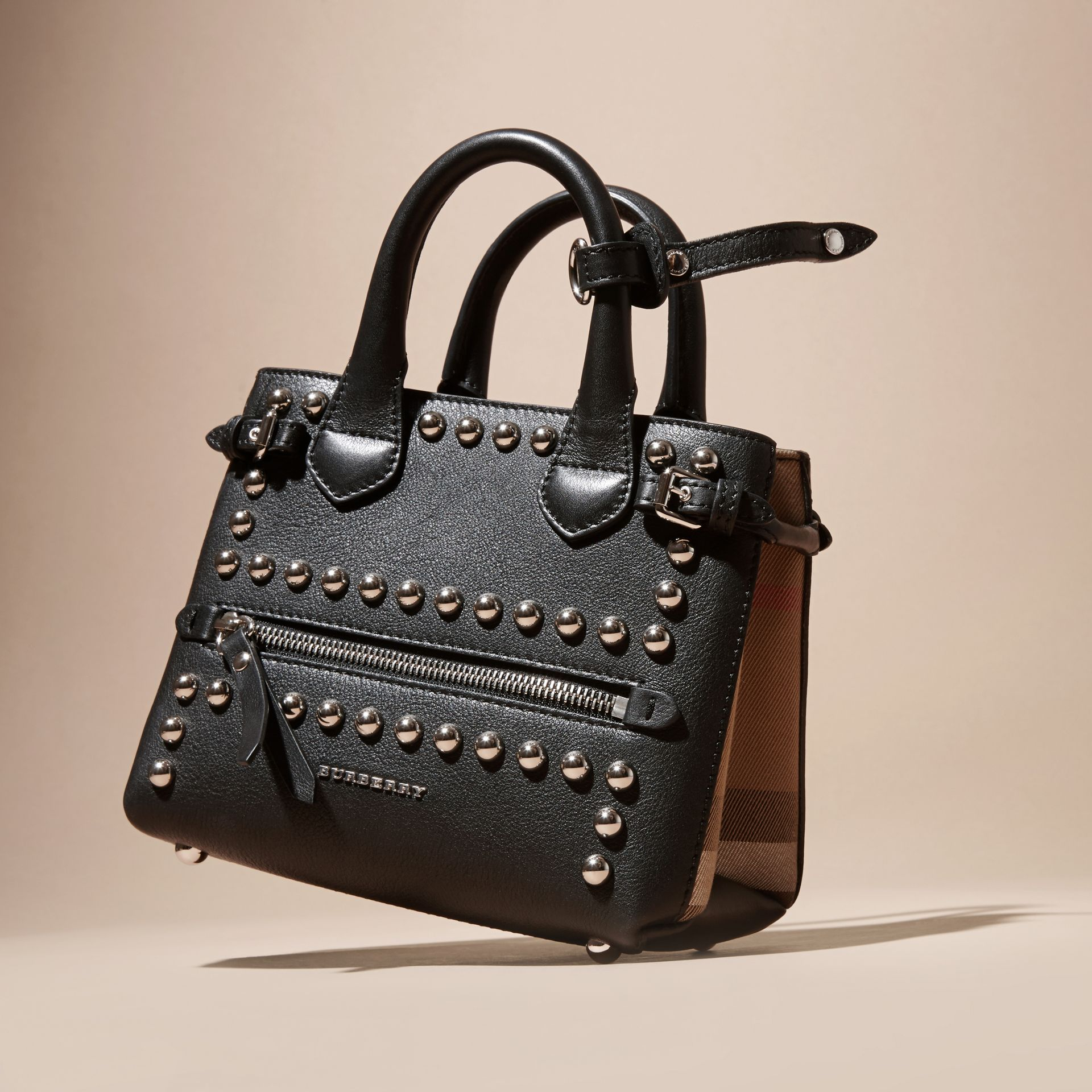 The Baby Banner in Studded Leather and House Check - gallery image 7