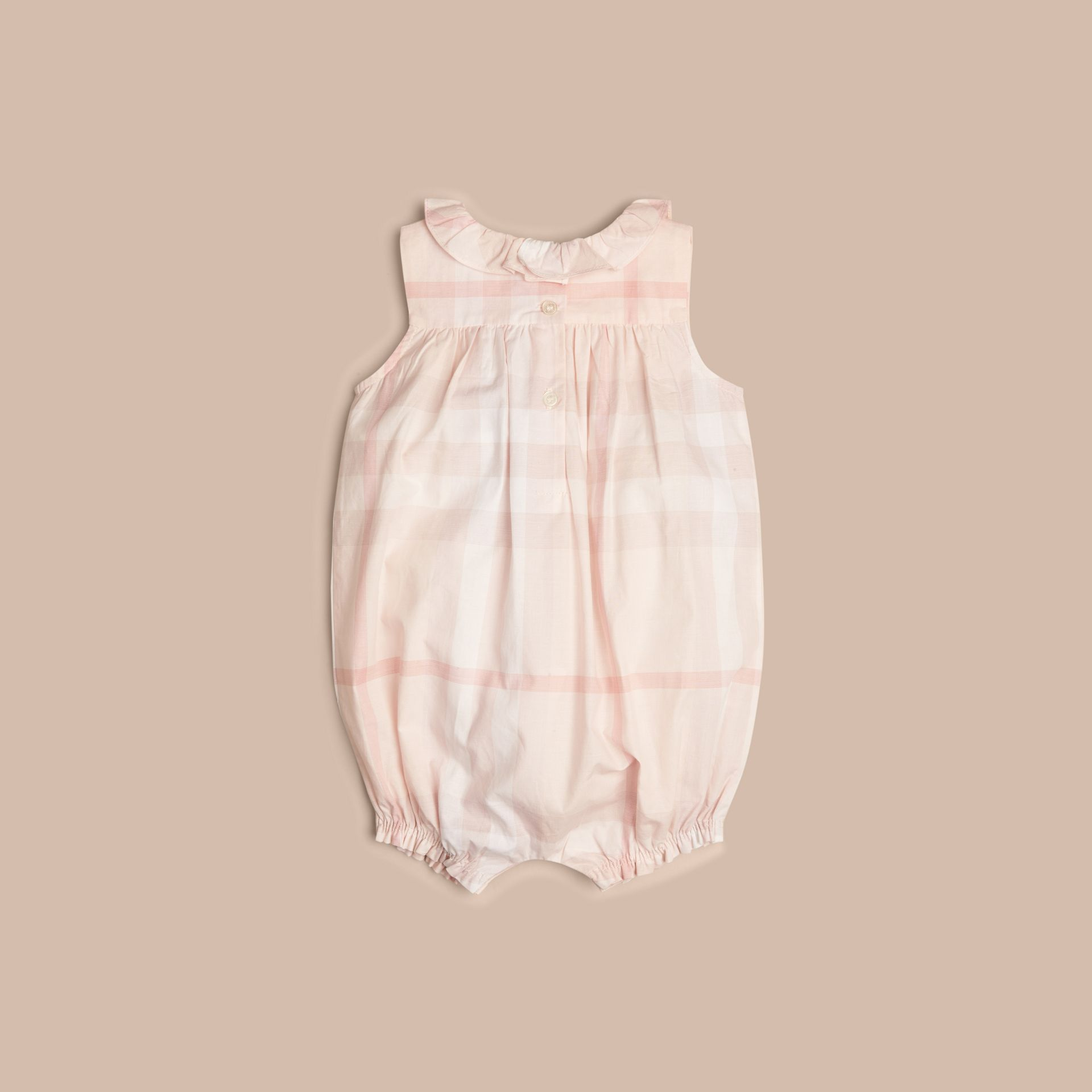 Ice pink Check Cotton Bodysuit - gallery image 2