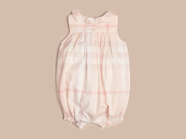 Ice pink Check Cotton Bodysuit - cell image 1