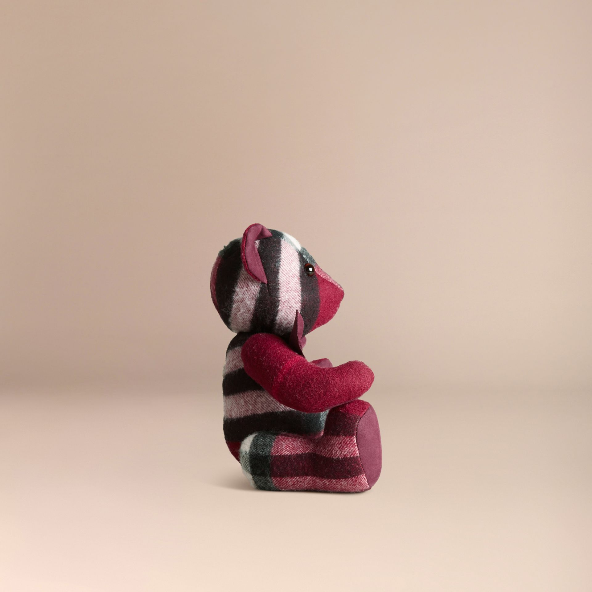 Plum Thomas Bear in Check Cashmere Plum - gallery image 3