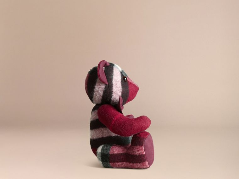 Thomas Bear in Check Cashmere in Plum - cell image 2
