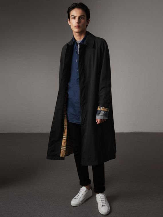 The Brighton – Extra-long Car Coat – Online Exclusive in Black