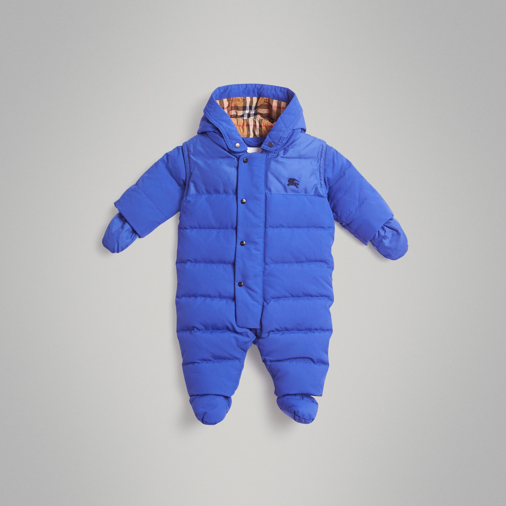 Down-filled Puffer Suit in Royal Blue - Children | Burberry United Kingdom - gallery image 0