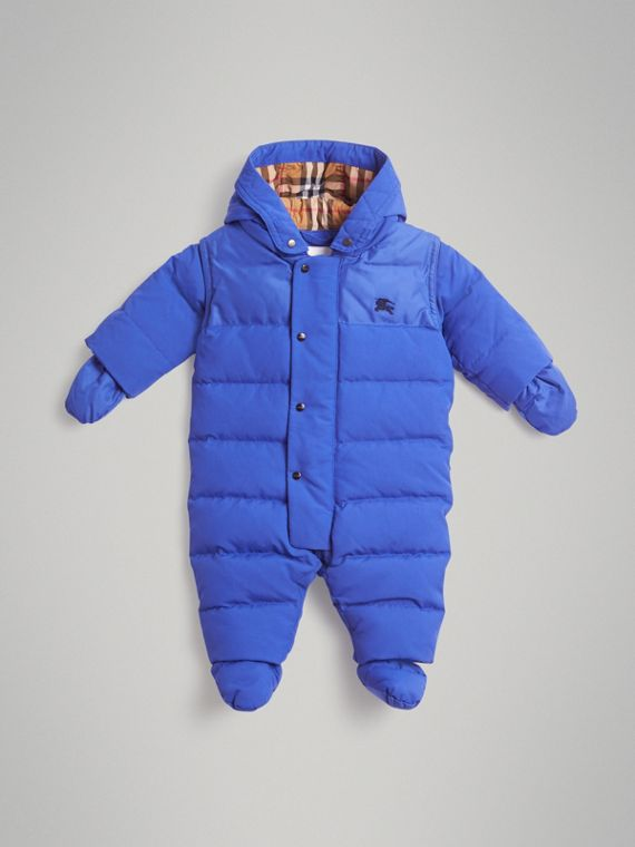 Down-filled Puffer Suit in Royal Blue