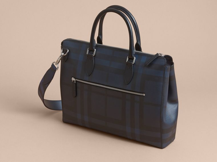 Large London Leather Briefcase Dark Navy - cell image 4