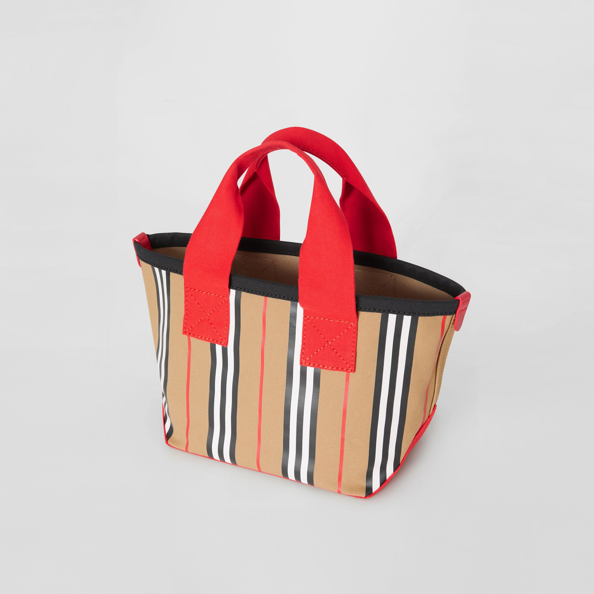 Icon Stripe Cotton Tote Bag in Honey - Children | Burberry Singapore - gallery image 2