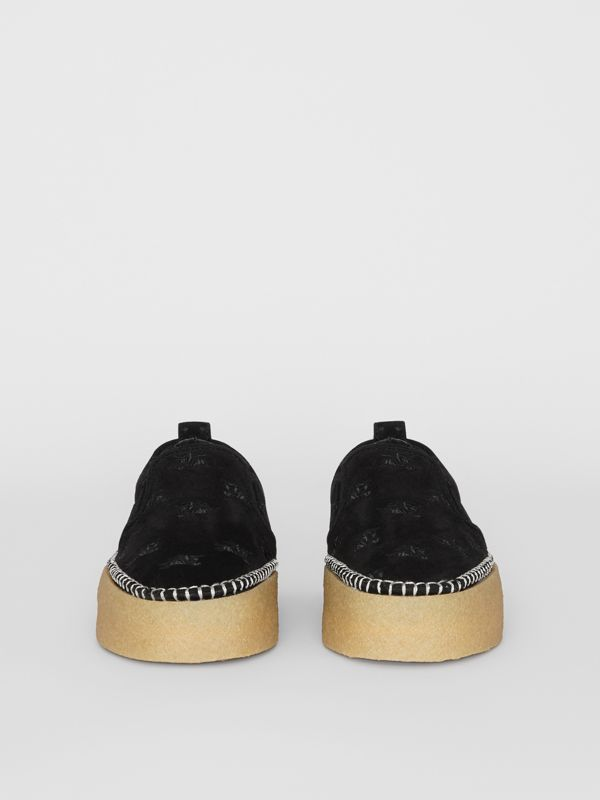 EKD Suede Slip-on Sneakers in Black - Women | Burberry United States - cell image 3