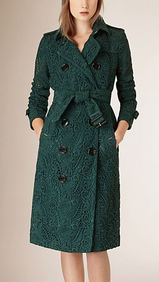 Macramé Lace Trench Coat