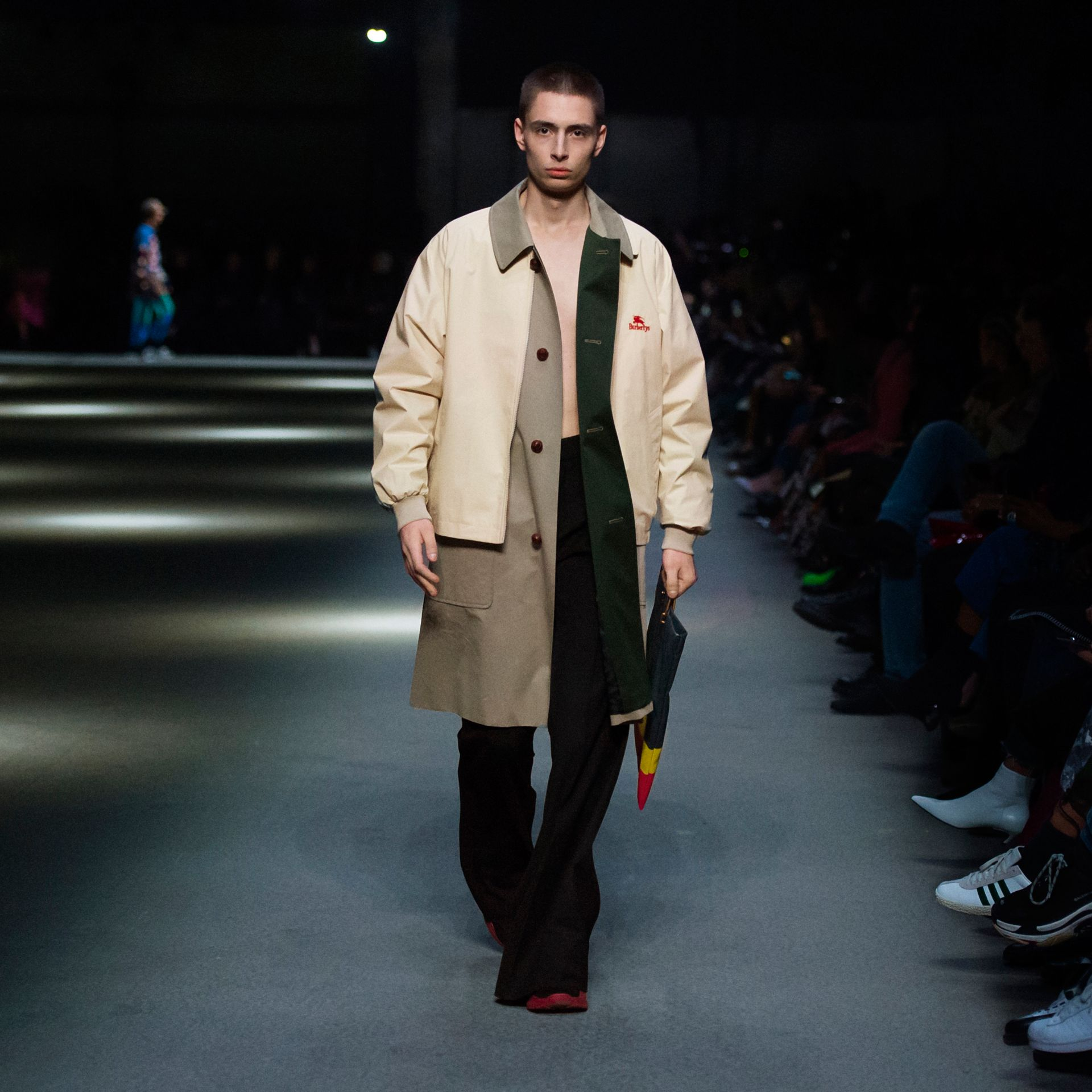 Reissued Waxed Cotton Gabardine Car Coat in Khaki - Men | Burberry United States - gallery image 8