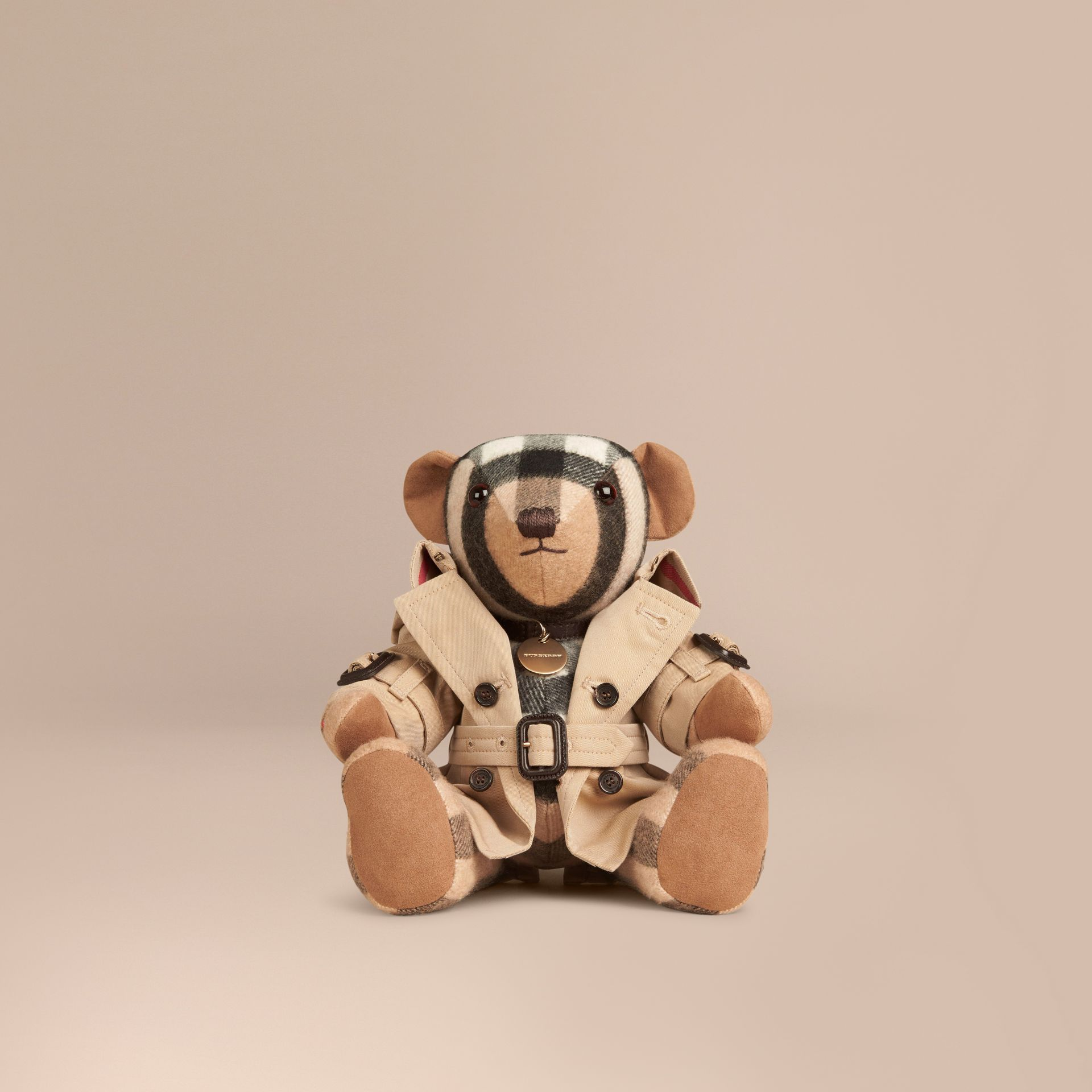 Camel Mr Trench Thomas Bear in Cashmere - gallery image 1