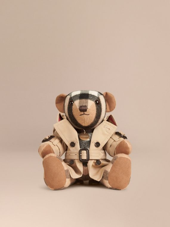 Teddy-bear Mr Trench en cachemire (Camel)