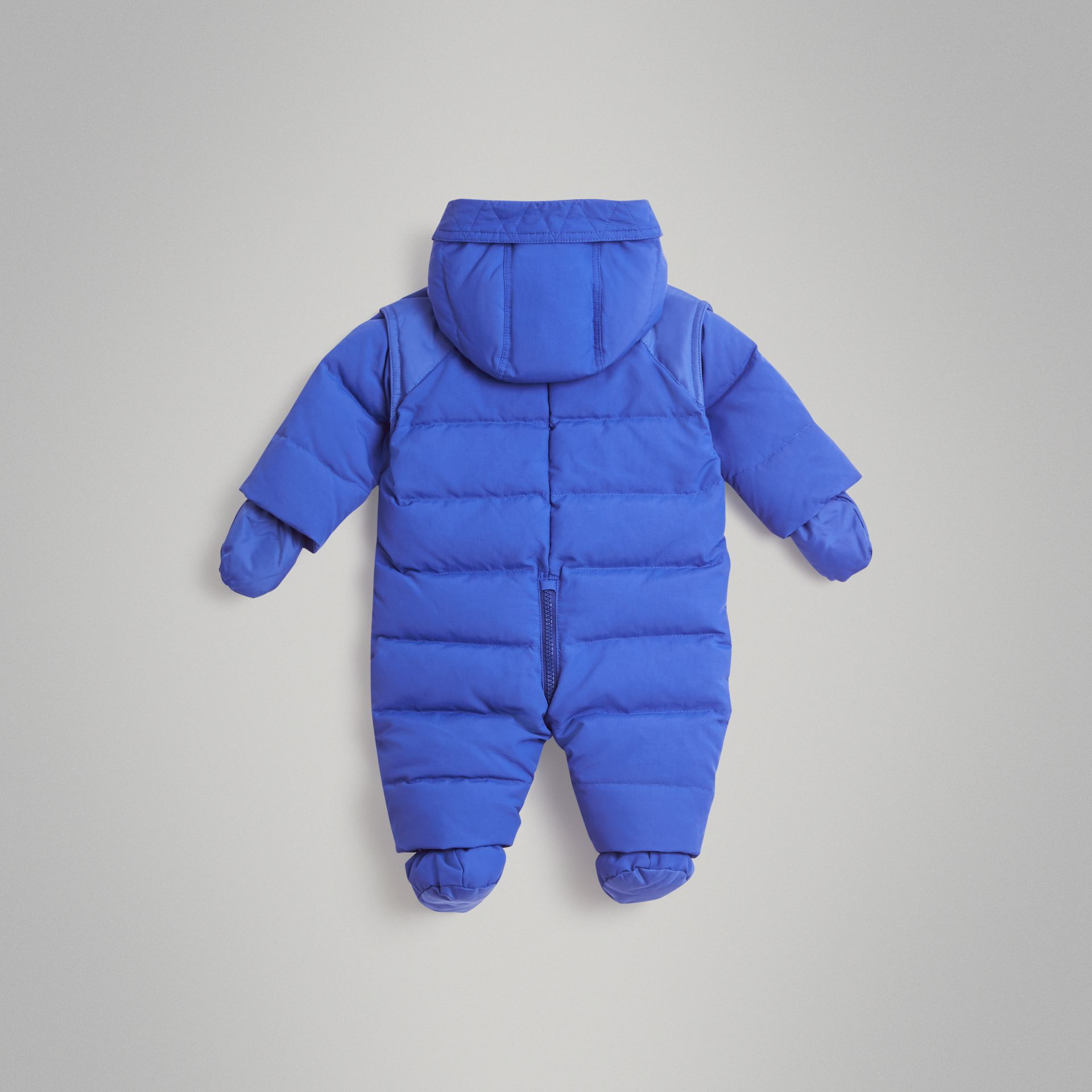 Down-filled Puffer Suit in Royal Blue - Children | Burberry United Kingdom - gallery image 3