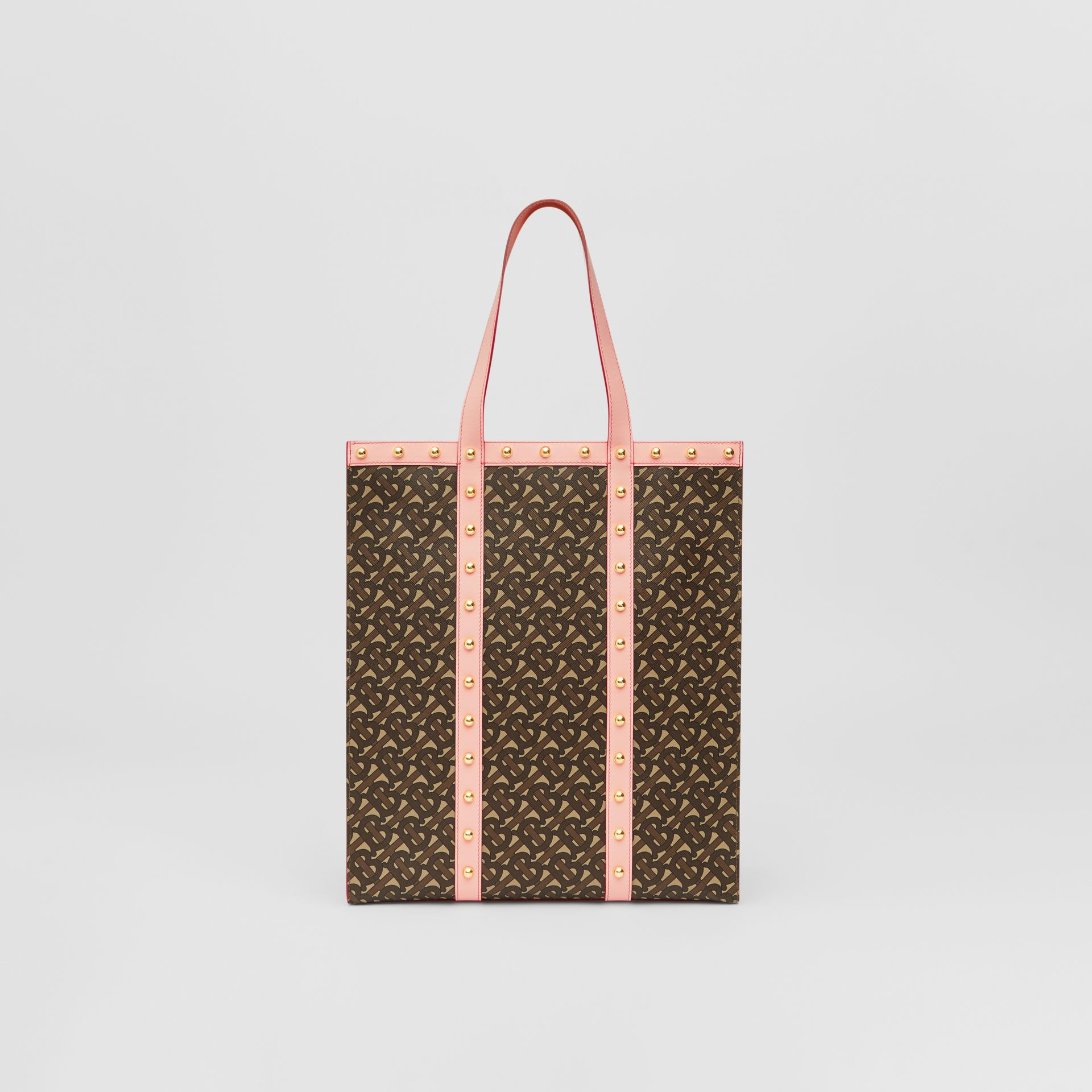 Monogram Print E-canvas Portrait Tote Bag in Cloud Pink | Burberry - gallery image 5