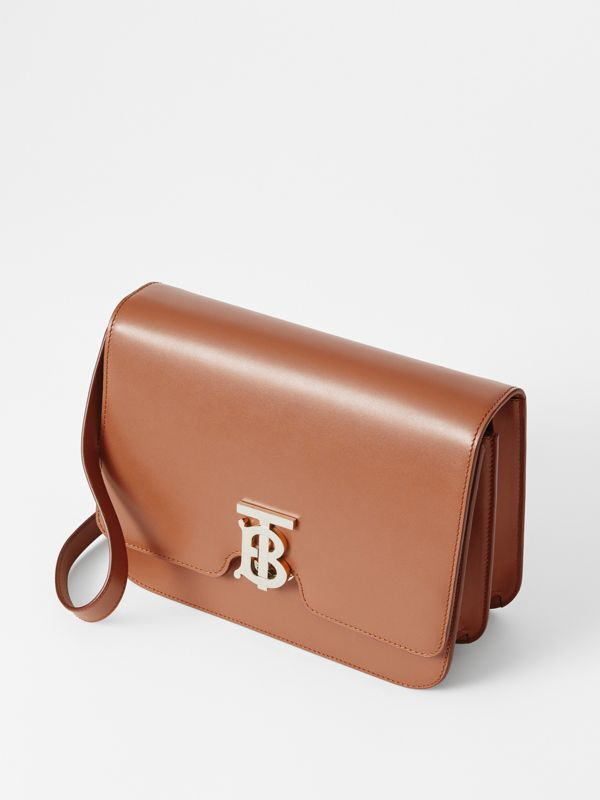 Medium Leather TB Bag in Malt Brown - Women | Burberry - cell image 3