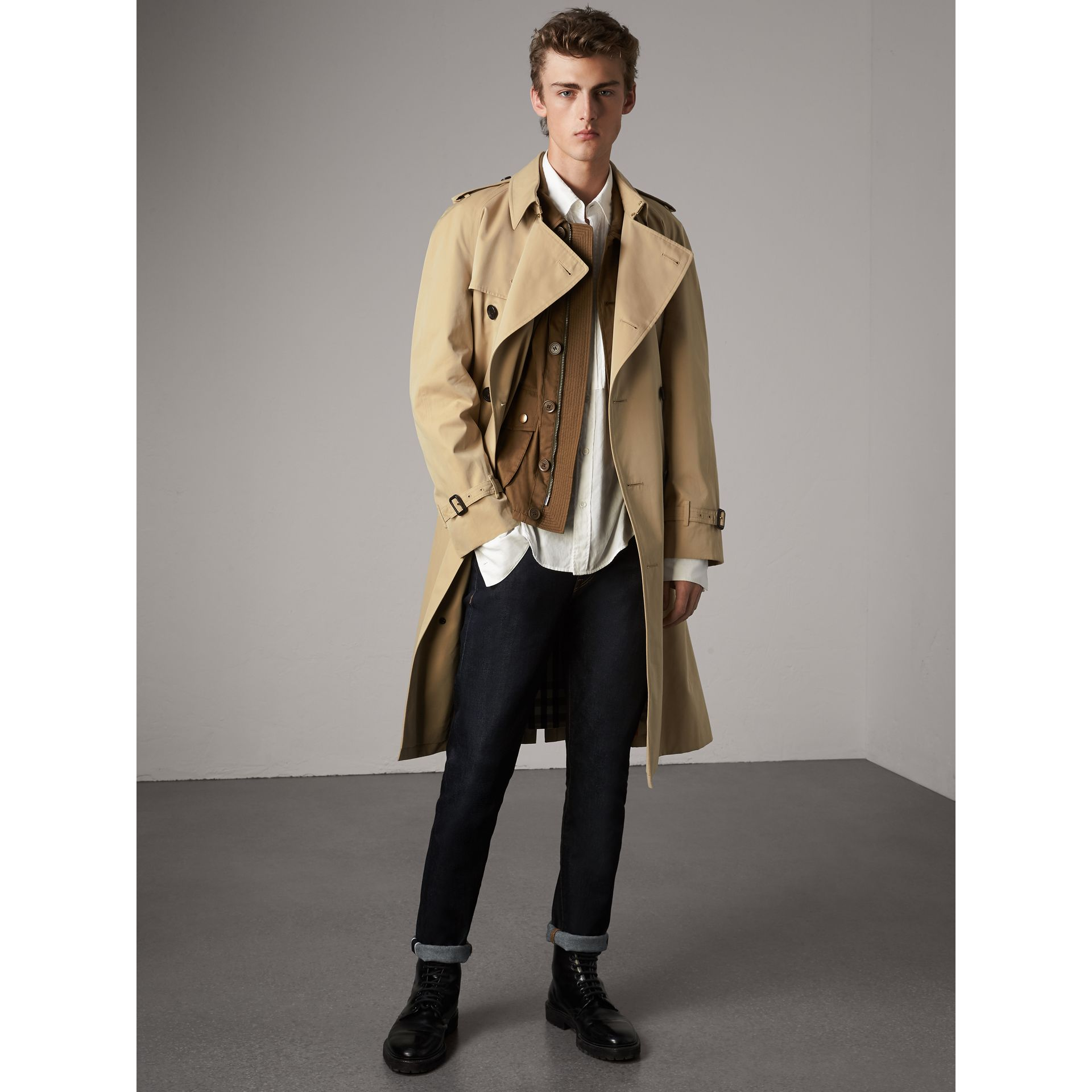The Westminster – Trench Heritage extra-long (Miel) - Homme | Burberry - photo de la galerie 1