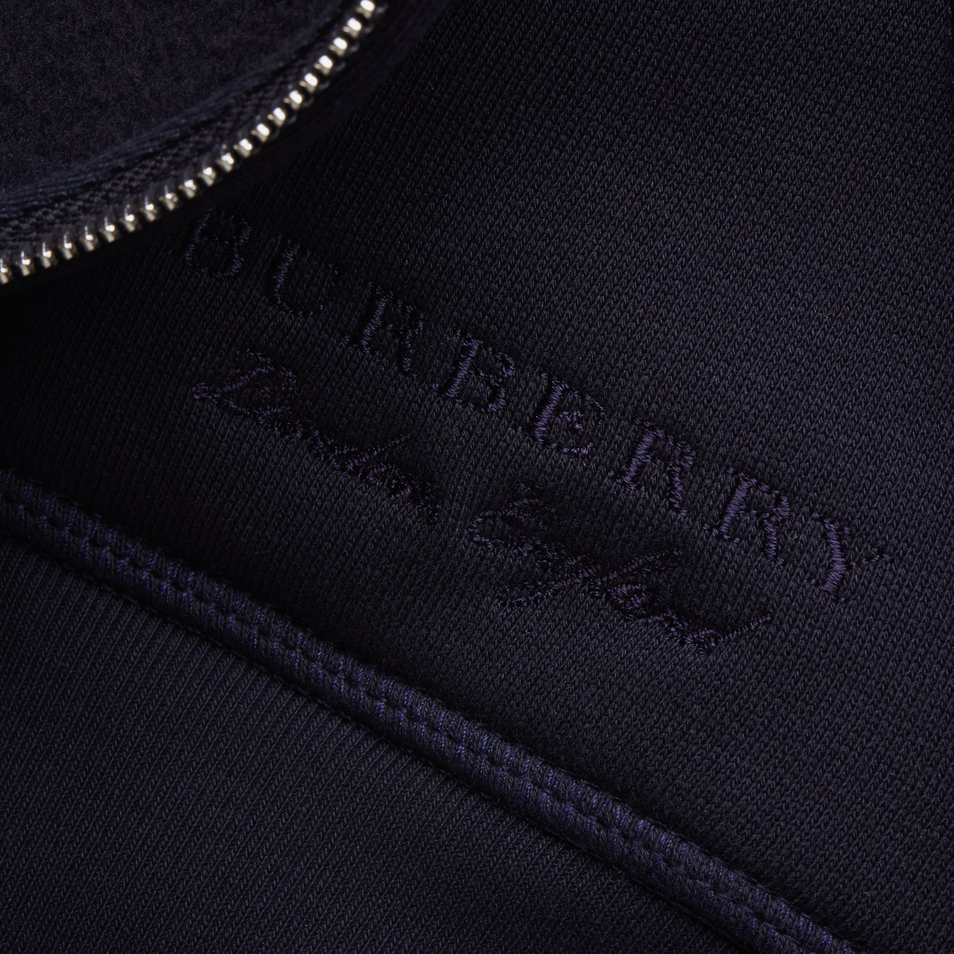 Lace Appliqué Jersey Hooded Top in Dark Navy - Men | Burberry Singapore - gallery image 2