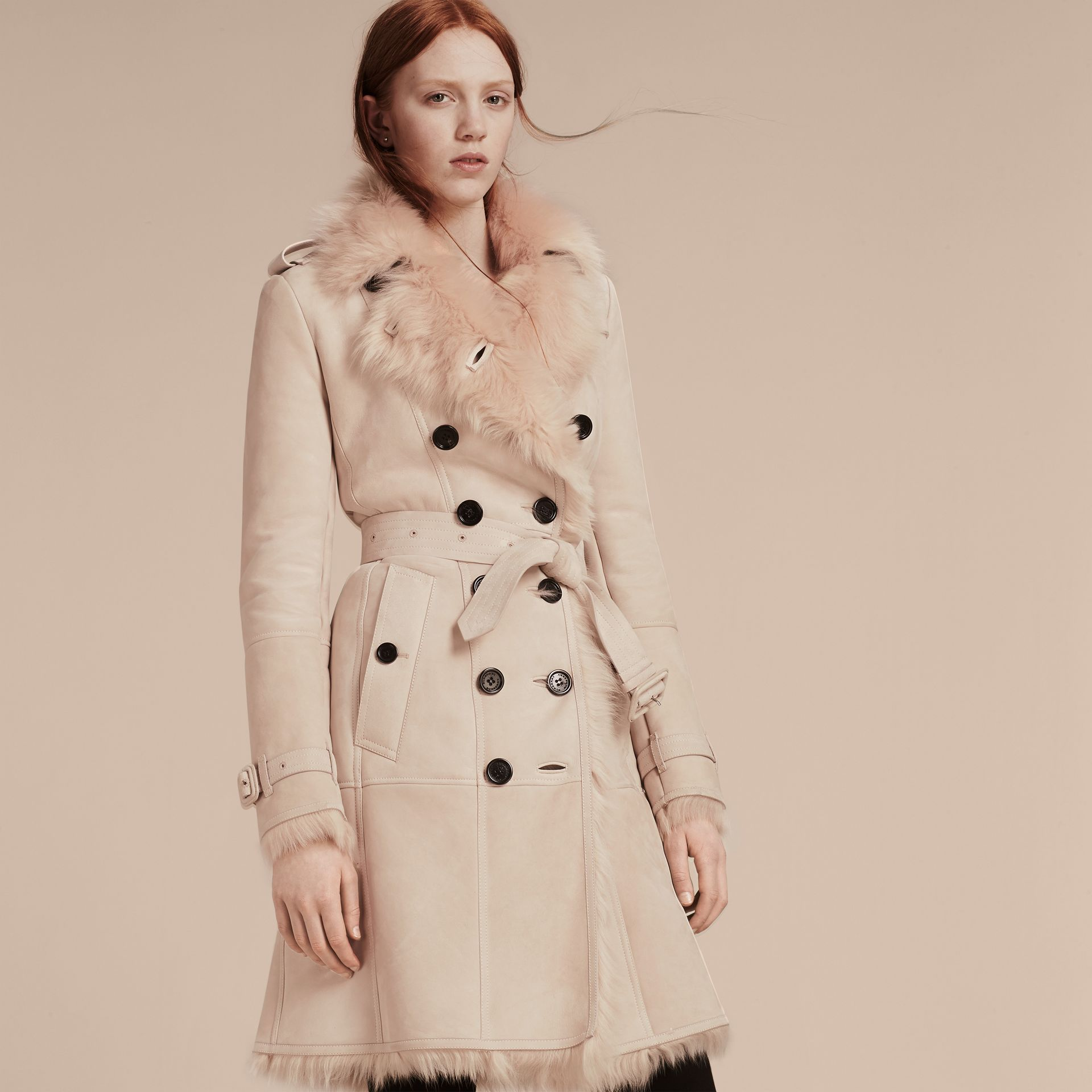 Shearling Trench Coat - gallery image 7