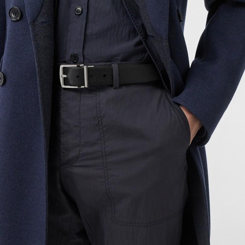 Burberry - Cinturón reversible en piel granulada - 8